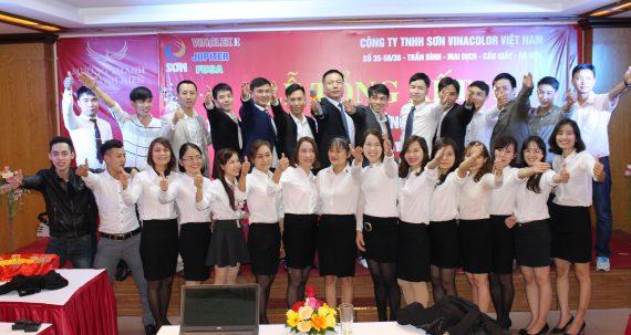 Công ty TNHH Sơn Vinacolor Việt Nam long trọng tổ chức lễ tổng kết cuối năm 2016