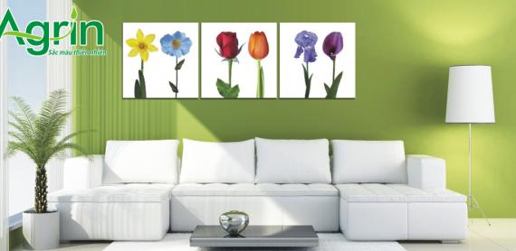 Màu sơn tường giúp xua đi sự nóng nực của mùa hè