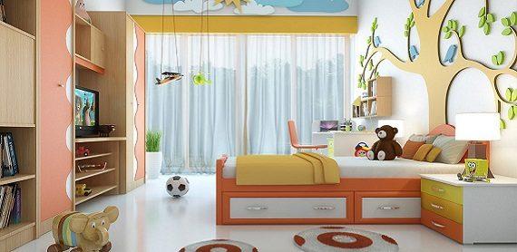 Màu sơn phòng ngủ trẻ em đẹp mà còn giúp trẻ em sáng tạo -Sơn Agrin